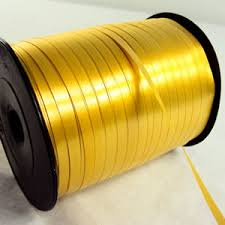 thin ribbon gold curling ribbon a 500m reel of thin 5mm gold curling ribbon