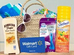 summer gift basket win a summer gift basket walmart gift card razor sunscreen and