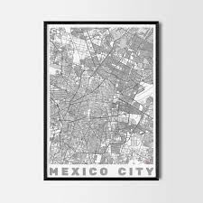 mexico gift map art prints and posters home decor gifts