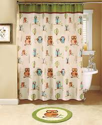 Bathroom Sets With Shower Curtain And Rugs And Accessories 17 Pc Bath Set Hoot Owl Shower Curtain Accessories Valance Rug