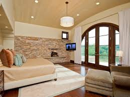 Brown Accent Wall by Stone Accent Wall Bedroom Rectangle Brown Leather Divan Bed Bronze