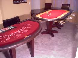 Poker Table Pedestal Matching Blackjack And Poker Table Using Osborne Table Legs