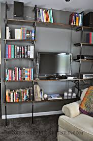 Black Pipe Shelving by Serendipity Refined Blog Diy Industrial Pipe Shelves For The