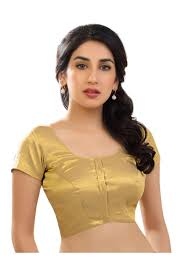 golden blouse golden attractive blouse in shimmer fabric from kalaniketan com