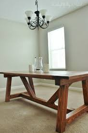 How To Build A Farmhouse Table Making Dining Room Table With Columns Kreg Jig Smaller Out Of