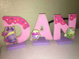 Letter Decoration Ideas by Shopkins Birthday Name Letters Table Decoration Shopkins