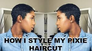 how i style my pixie haircut youtube