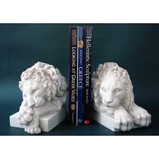 lion book ends pair of marble canova lion bookends replicas of ancient