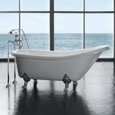 Clawfoot Shower Pan Bathroom Using Luxury Clawfoot Bathtubs For Pretty Bathroom