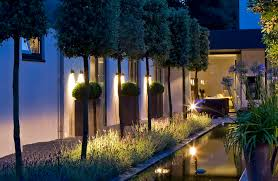 contemporary wall light garden metal bmy w 220 royal botania