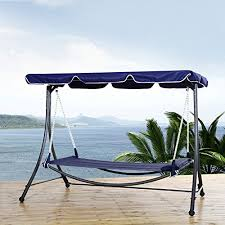 outsunny single hammock bed lounger with sun canopy 265 lb