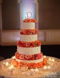 coral wedding cakes rich coral wedding inspiration weddingomania