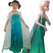 Elsa Halloween Costume Girls Fever Elsa Cosplay Costume Snow Queen Summer Dress Halloween