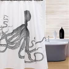 Die Duschvorhang Frage 150x180cm Octopus Kraken Muster Wasserdichte Bad Vorhang Polyester