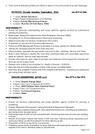 Planner Resume Resume Planning Engineer