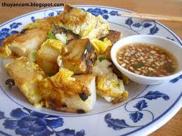 chien cuisine of salt banh bot chien fried rice cubes w eggs