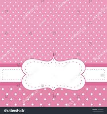 Invitation Cards For Baby Shower Pink Invitation Card Baby Shower Wedding Stock Illustration