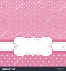 Invitation Card For Baby Pink Invitation Card Baby Shower Wedding Stock Illustration