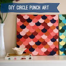 DIY Paper Punch Scallop Art