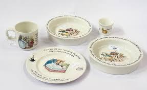 rabbit wedgwood two wedgwood rabbit baby s bowls matching plate mug and