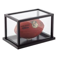 merchandise display case wooden football display case the container store