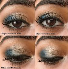eyeshadow tutorial for brown skin tutorial thursday festive turquoise and bronze eye makeup reader