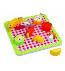 jeux de cuisine service janod picnik plateau chunky fruits et légumes jeux jouets par