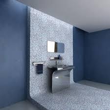 bathroom built black and white floor tile gray wall tile idea