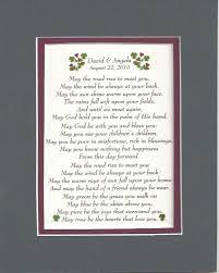 Wedding Blessings Irish Wedding Blessing Personalized Wedding Anniversary Gift