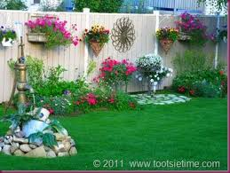 Unique Garden Decor Ideas Wall Art And Flowing Flowers In Unique Containers Make Beautiful