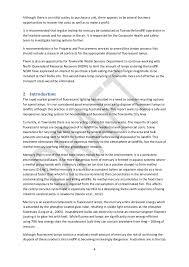 fluorescent l disposal cost fluorescent light business case