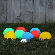 lighted led bocce ball set unique backyard and bocce ball court