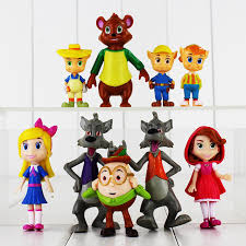 9pcs lot goldie tale forest friends figure