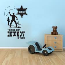 compare prices on 3d wall stickers cowboy online shopping buy low customer made cowboy wall sticker personalised boys bedroom vinyl children s transfer you choose