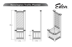 kensington planter box and garden trellis combo