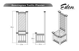 kensington planter box and garden trellis combo
