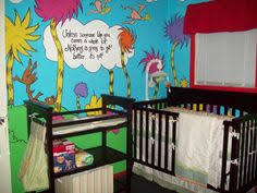 dr seuss bedroom ideas baby nursery decor full color fluffy tree wallpaper lorax dr