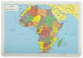 africa map amazon com painless learning africa map placemat home kitchen