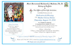 invitation to the dedication blessing of the mother teresa home 8