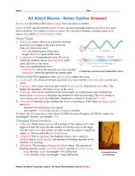 about waves u2014notes outline answers