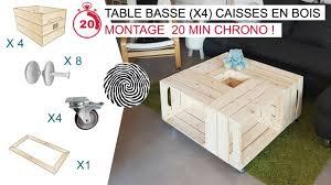 Recyclage Cagette Bois Le Fameuse Table Basse X4 Caisses En Bois Par Simply A Box Youtube