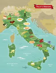The Map Of Italy by Creating An Illustrated Food Map Of Italy Tom Woolley