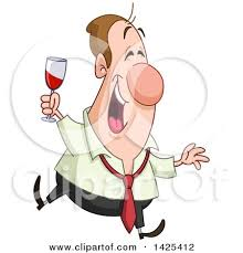 happy glass clipart of a happy caucasian business holding a