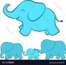 elephant family cartoon royalty free vector image