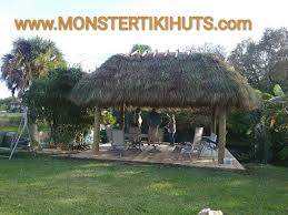 Tiki Hut Material Pine Island Florida Backyard Chickee U0026 Tiki Huts Builders New