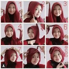 tutorial memakai jilbab paris yang simple kecantikan berhijab hijab paris