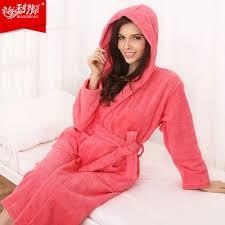 robe de chambre eponge femme ob9528016 100 à capuche peignoir peignoir en coton épaississement