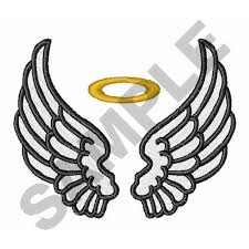 wings with halo embroidery designs machine embroidery