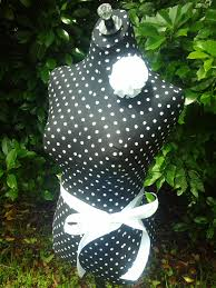Boutique Centerpiece Dress Form Jewelry Display Stand Polka Dot