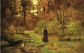 Indiana landscapes images Oil paintings of 4 the brook in the woods impressionist indiana jpg